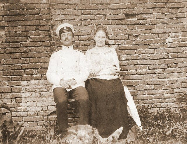 Екатерина Андреевна и Петр Николаевич Арские, май 1900 г.