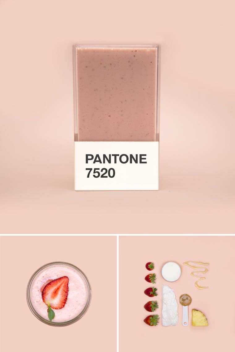 Pantone Smoothies - Recreating the Pantone colors with mixed fruits