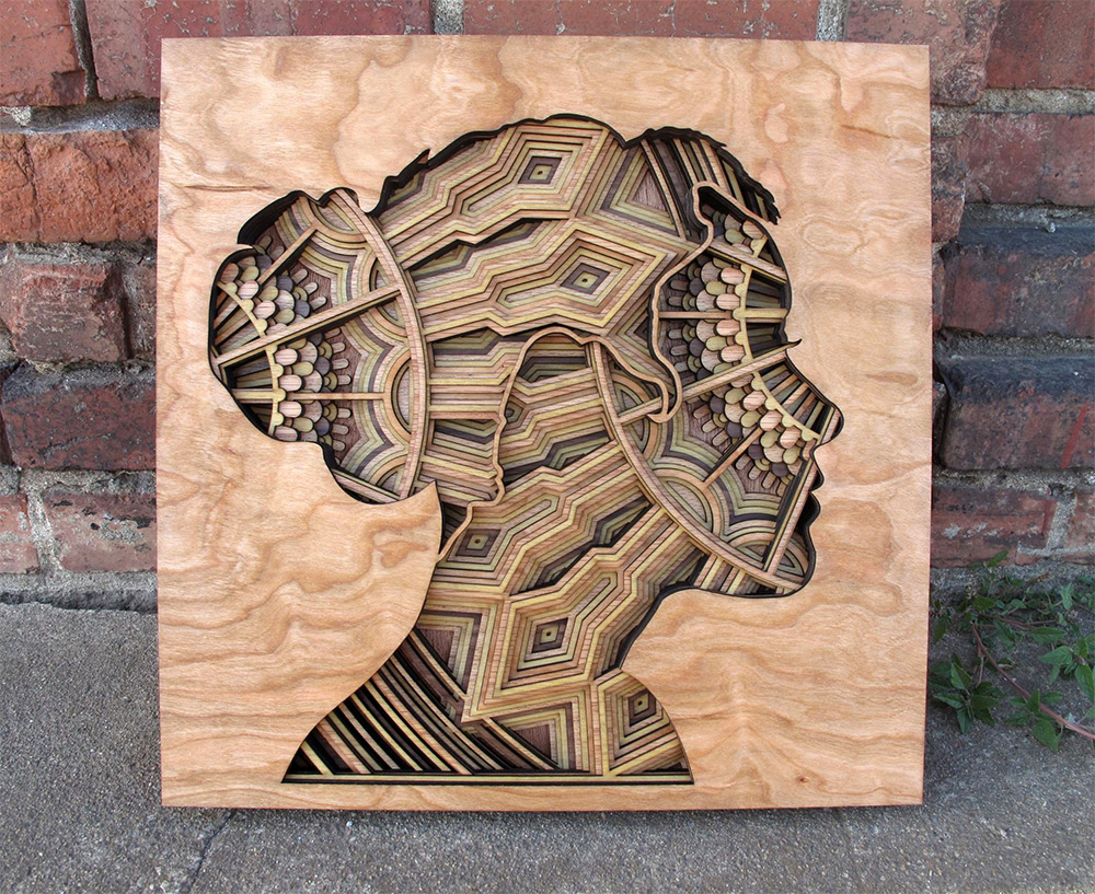 Oakland-based artist Gabriel Schama ( previously ) continues to produce intricate relief sculptures
