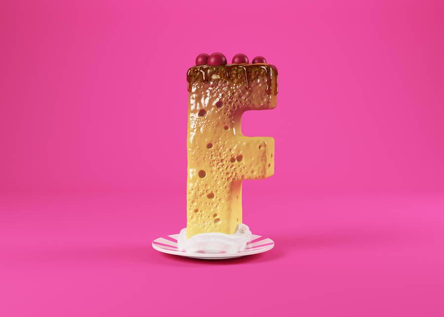 Appetizing 3D Food Alphabet