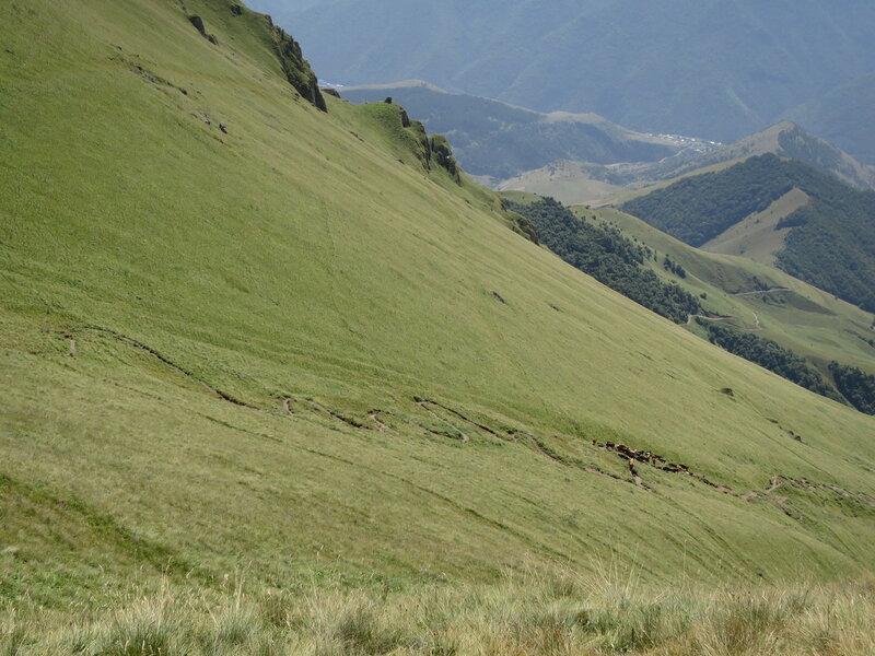 Серпантин по пути на гору