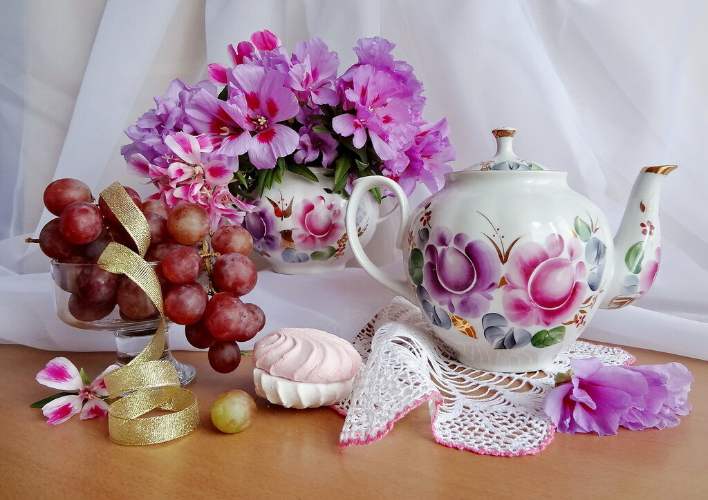 Цветочно-зефирное утро