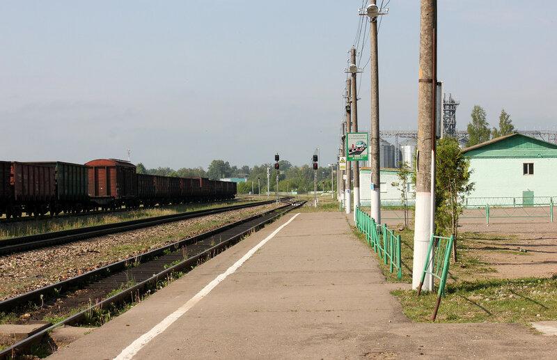 Платформа на станции Сычёвка, вид на Вязьму