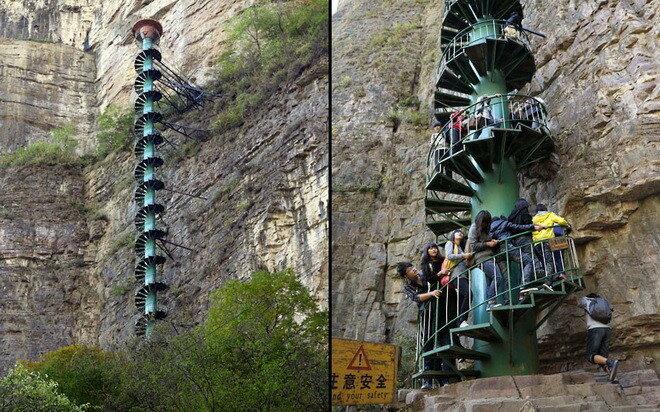 Спиральная лестница Тяйхань. Китай