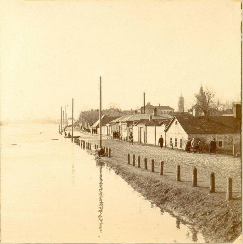 Наводнение 1908 г. Набарежная Дреера