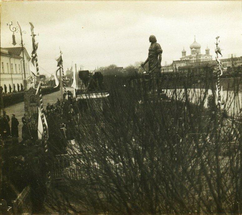 Открытие памятника Петру I.  28 апреля 1912