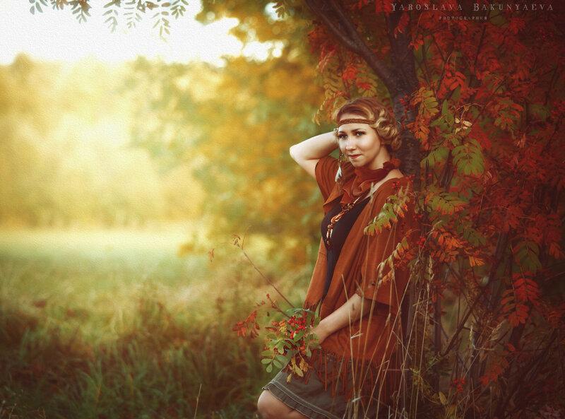 Осень в стиле бохо шик -съемка в Царицыно