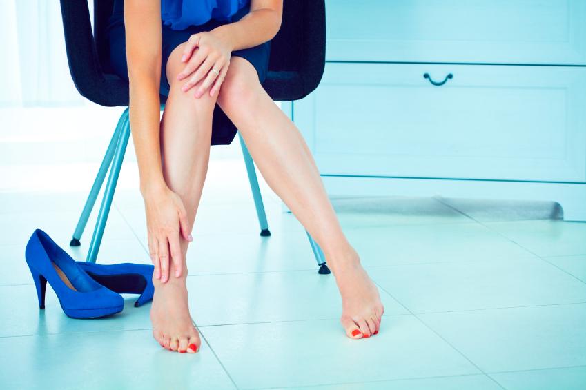 как снять усталость ног