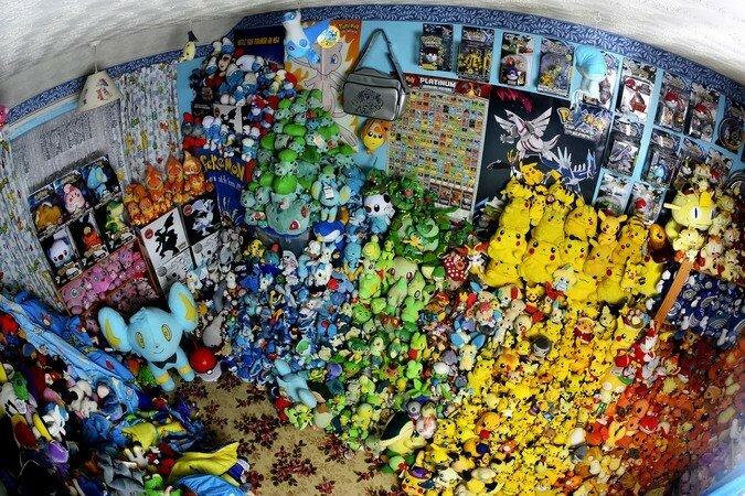 Несмотря на то, что на данный момент её коллекция состоит из 16000 предметов, Лиза Кортни (Lisa Courtney) из Великобритании поставила рекорд в 2010 году, когда в её коллекции было всего лишь 14 410 предметов. Она даже несколько раз ездила в Японию, чтобы купить вещей связанных с покемонами. В ходе каждой из этих поездок она отправляла домой по 8-12 коробок, полных покемонов.