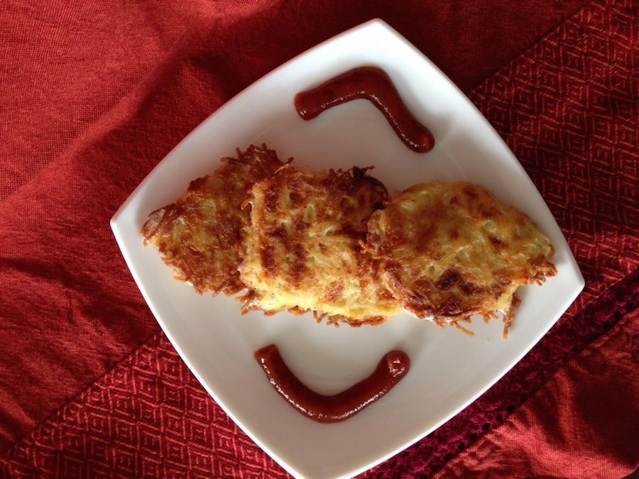 Оладьи из вермишели с сыром