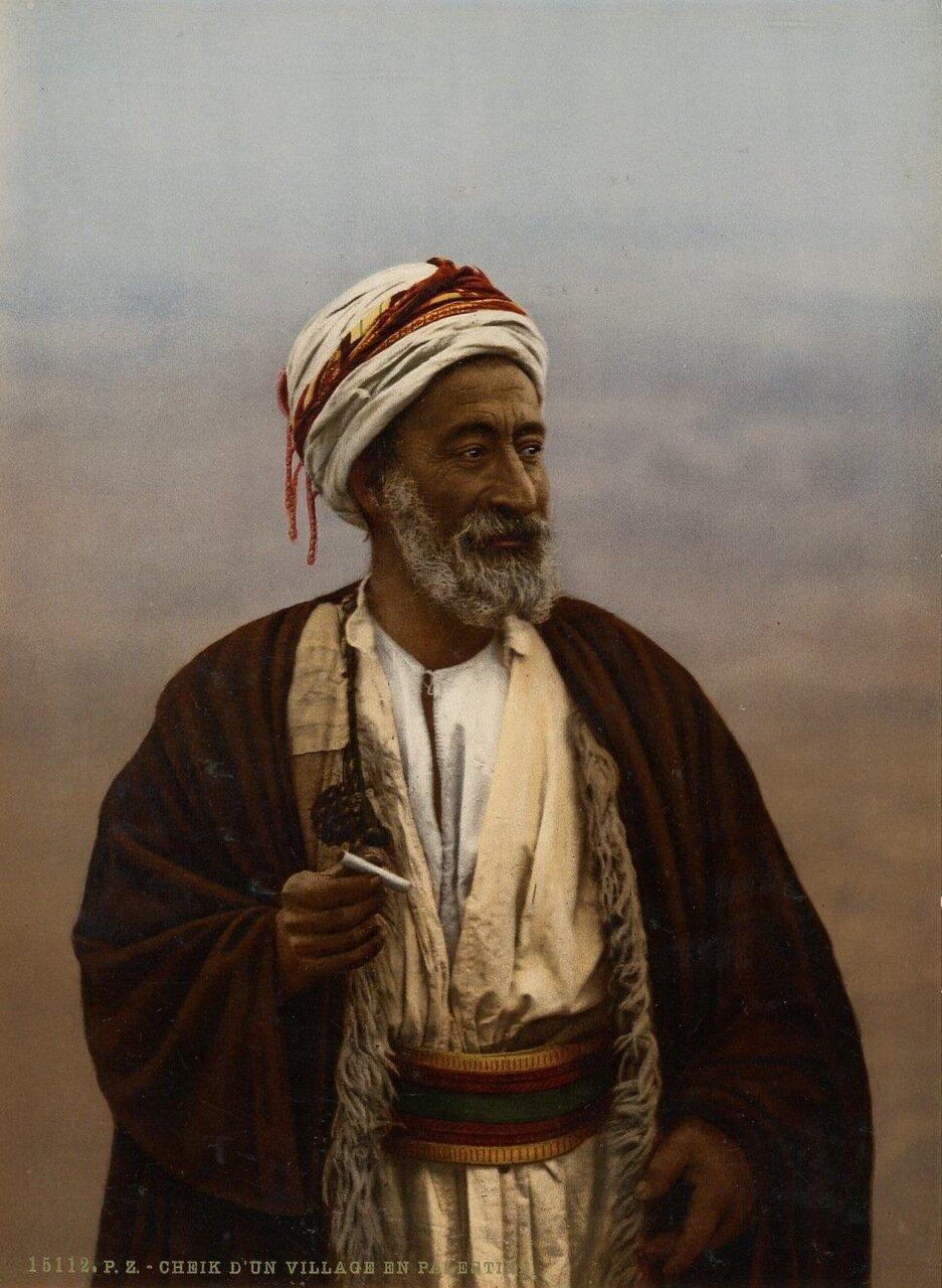 Шейх из деревни в Палестине