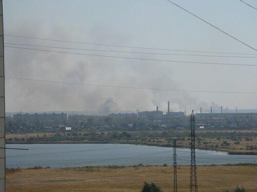 пожар в Кургане  -  дым
