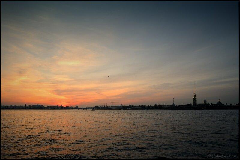 сентябрьский закат над Невой