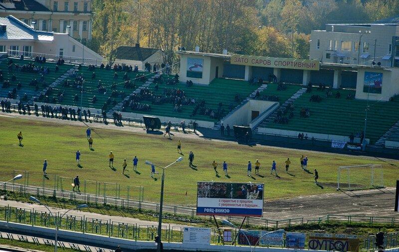 футбол на стадионе Икар в Сарове