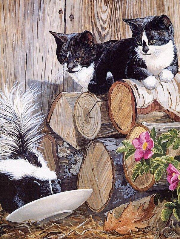 Коты и кошки от Persis Clayton Weirs
