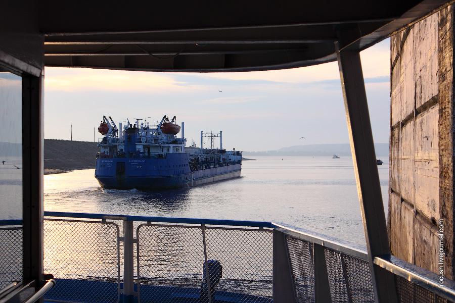 Новочебоксарск. Шлюз Чебоксарской ГЭС
