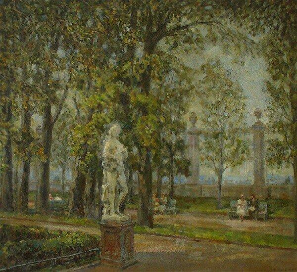 Кучумов Василий Никитович 1888-1959 Летний сад. 1953 холст, масло