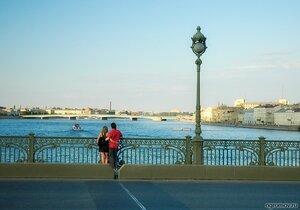 Петербургская пара (мост, нева, пара, Петербург, судно, Троицкий мост)