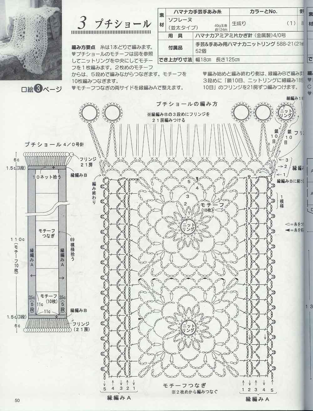 Шарф ажурный крючком схема 14 фотография