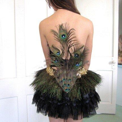 Аксессуары из павлиньих перьев