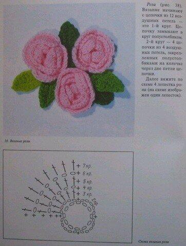 Цветы крючком.  Идеи, схемы, описание.