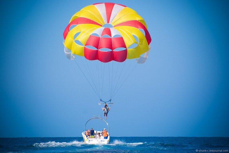 Взлет на парашюте
