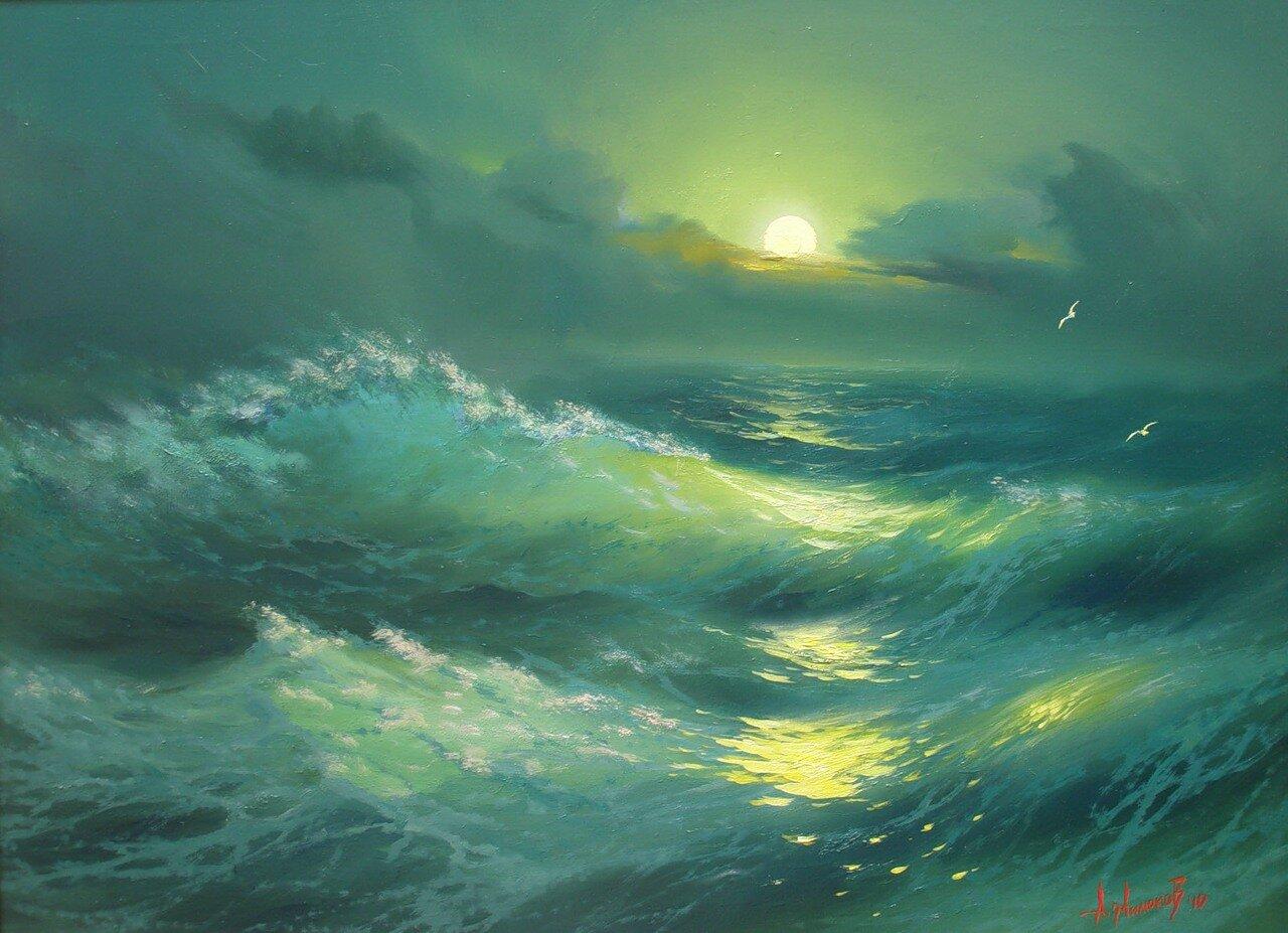 Ночь.Волна