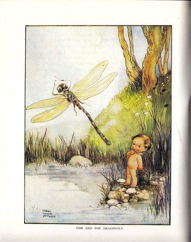 Иллюстрация, художница Аттвелл, Том у воды