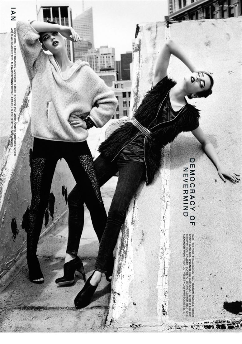 Моника Ягачек и Лю Вен / Monika Jagaciak and Liu Wen for Barneys CO-OP Mailer