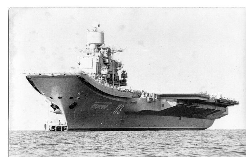 ТАКР пр.1143.5 «Адмирал Флота Советского Союза Кузнецов» в период приёмных испытаний.