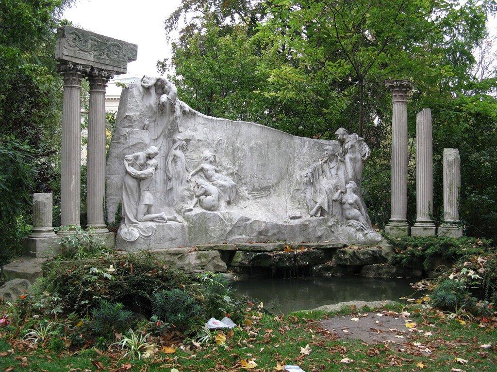 Париж. Сад Новой Франции (Jardin de la Nouvelle-France). Памятник поэту Альфреду де Мюссе