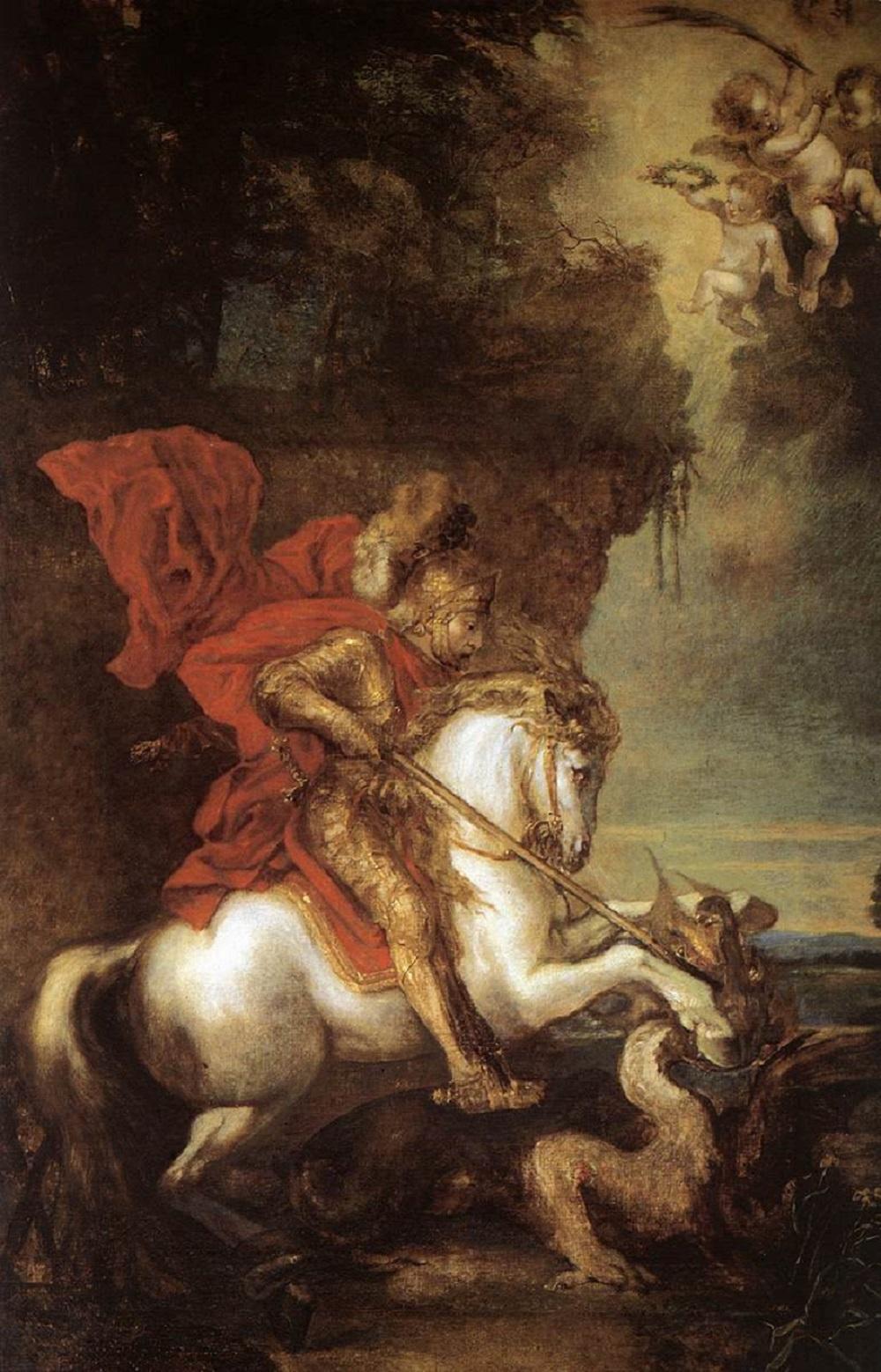 1630 Антонис ван Дейк  (1599-1641) Св. Георгий и змей.jpg