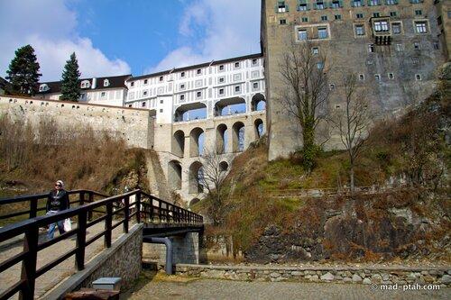 чески-крумлов, плащевой мост, чехия