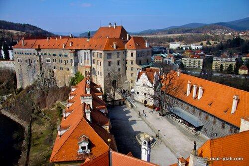 чески крумлов, чехия, замок