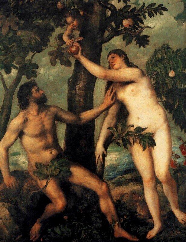 Тициан. Адам и Ева