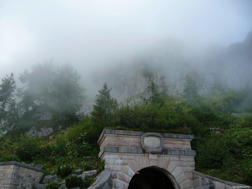 Вход в туннель. Туман. 1700 метров..