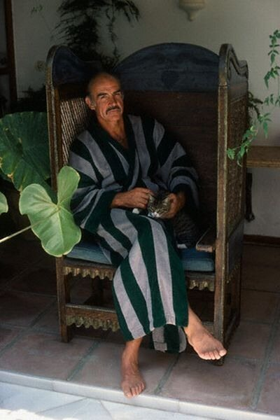Actor Sean Connery Having a Good Time in Marbella