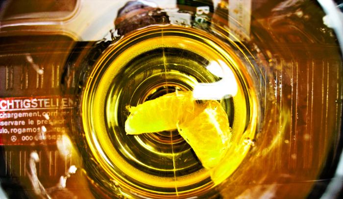 долька мандарина в коньяке