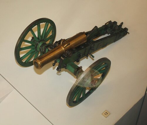 """Модель полевого """"единорога"""" образца 1838 г. (лафет образца 1845 г.)"""