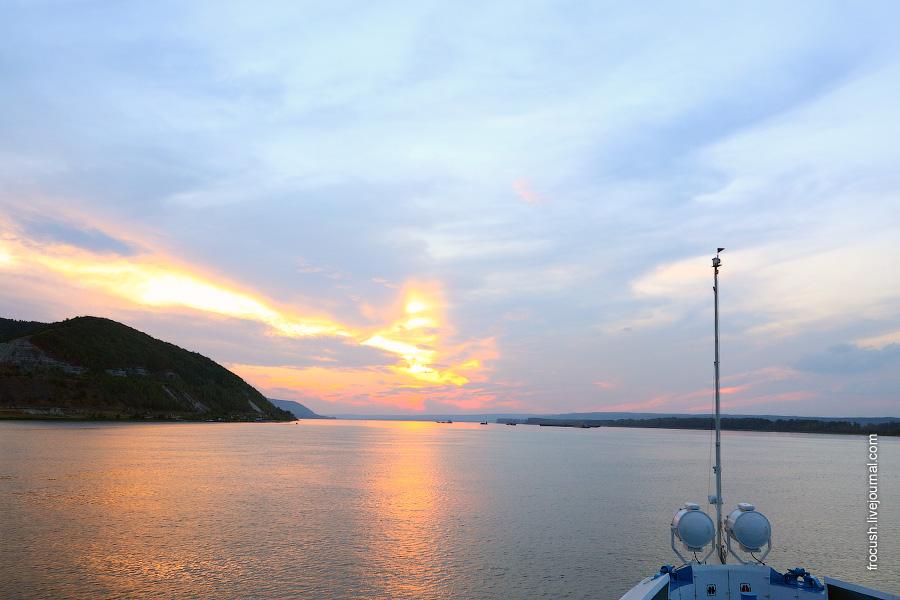 Закат в Жигулях.