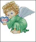 вышивка крестом схемы ангелочки.