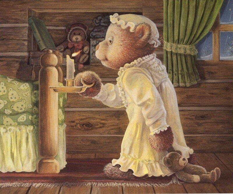 Плюшевые мишки в иллюстрациях.  Из жизни плюшевых...  Matrioshka.