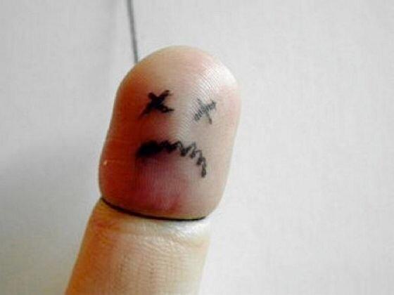 прикольные рисунки на пальцах