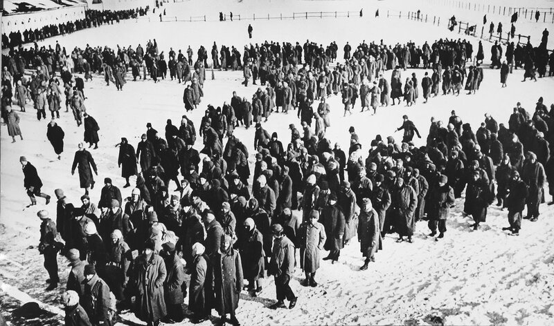Немецкие пленные в районе Сталинграда