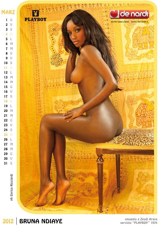 Календарь на 2012 год De Nardi - Sexy Italia 1970s - модель Bruna Ndiaye / использован образ фотомодели Zeudi Araya, звезды журнала Playboy 1974 года
