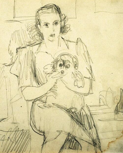 Девочка с собачкой, 1930-e  | Girl with a dog
