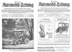 Журнал Allgemeine Automobil-Zeitung №14-17 1901