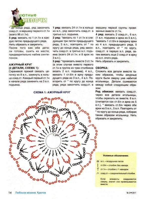 Вязания крючком игольницы схемы 24
