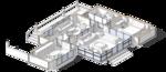 Кухня-столовая на природе,  проект сблокированного модульного дачного жилого дома с остекленной террасой