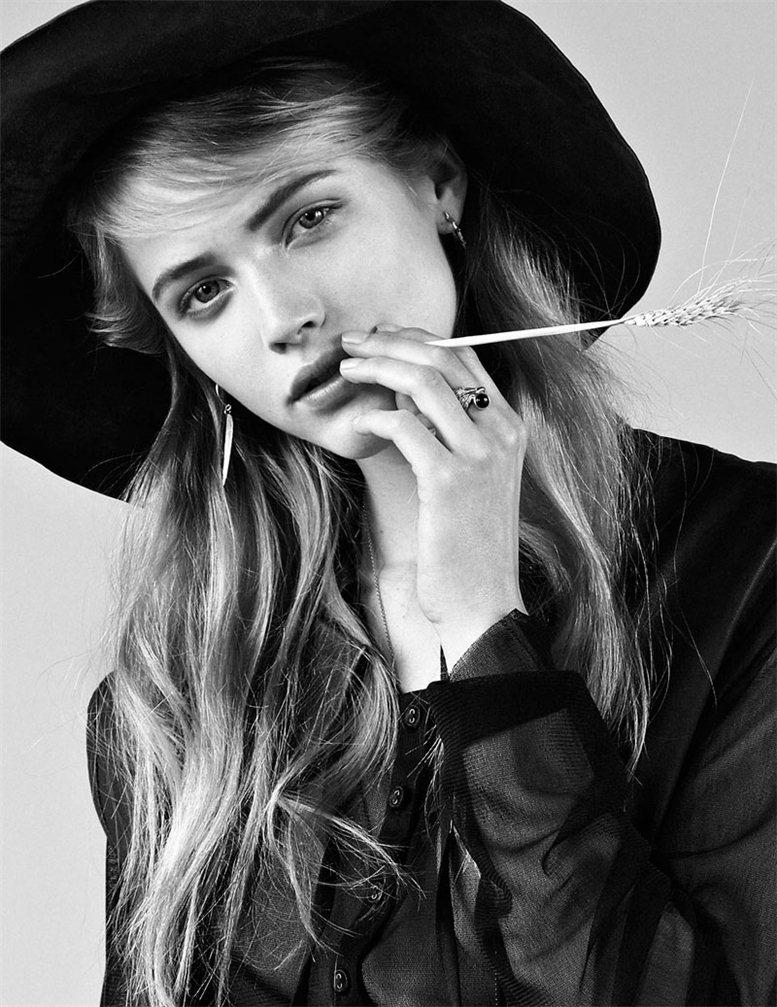 модель Ханна Вамер / Hanna Wahmer, фотограф Johan Sandberg